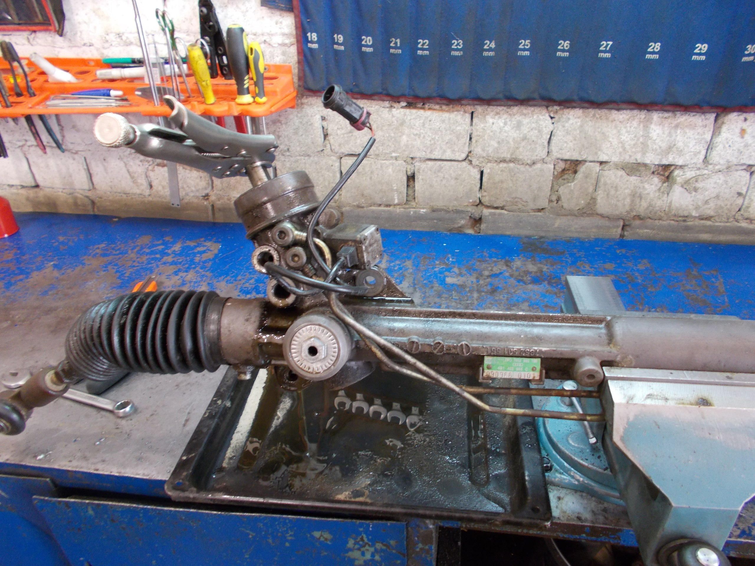Реставрация рулевых реек своими руками